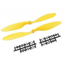 China - 1045 Yellow Plastic CW/CCW Propeller Set