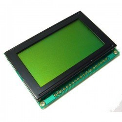China - 128x64 Graphic LCD, Black Over Green - TG12864B-01XA0
