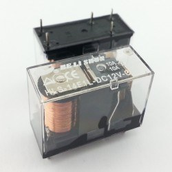 HELISHUN - 12V 10A Single Contact Relay - HLS-14F1L-DC12V-C