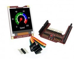 4D Systems - 1.44′′ Arduino LCD Display Shield - uLCD-144G2-AR