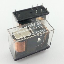 HELISHUN - 24V 16A Single Contact Relay - HLS-14F2L-DC24V-C