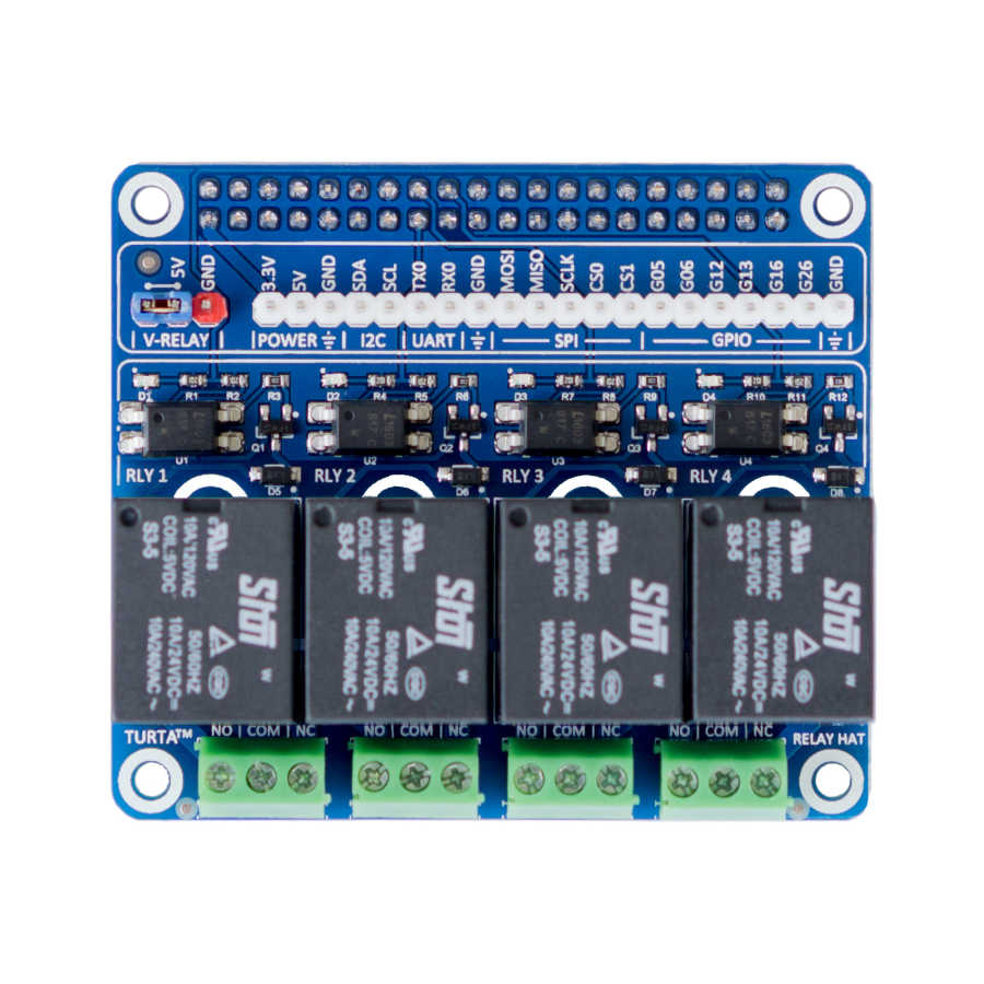 Buy Turta Raspberry Pi 4 Channel Relay Board with cheap price