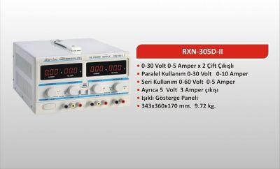 0-30 Volt 5 Amper Çift Çıkışlı Ayarlı Güç Kaynağı (RXN-305D-II)