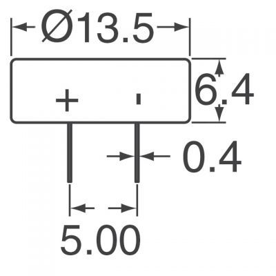 0,47F 5.5V supercapacitor - KR-5R5C474-R