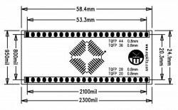 0.8MM TQFP20-28-36-44 SMD-Dip Converter Board - Thumbnail