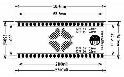 0.8MM TQFP20-28-36-44 SMD-Dip Converter Board