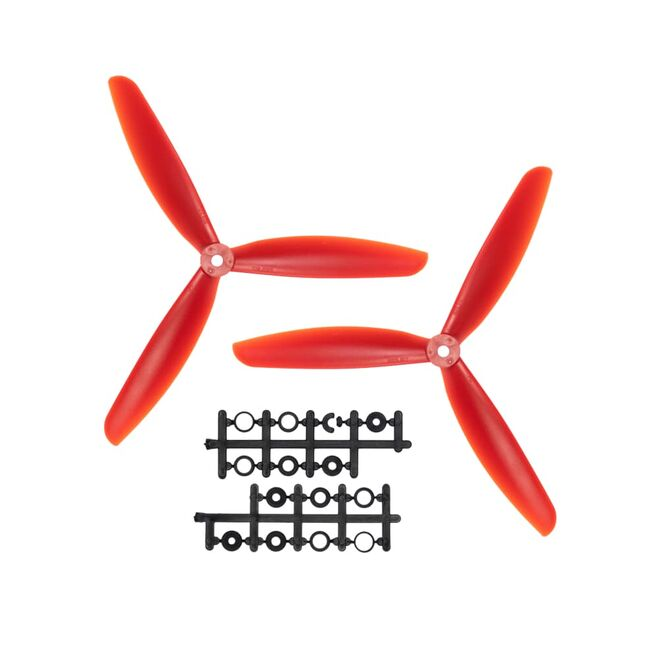 09x4.5 3 Kanatlı Pervane - CW & CCW - Kırmızı