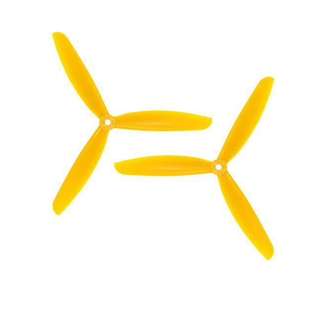 09x4.5 3 Kanatlı Pervane - CW & CCW - Sarı