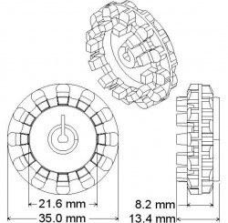 Wheel 42x19 mm Pair - 42x19 Tekerlek Çifti - PL-1090 - Thumbnail