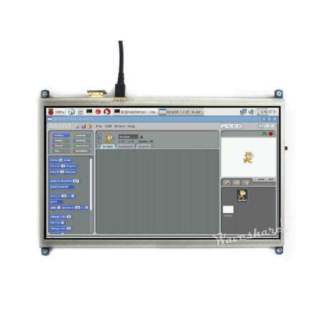 WaveShare 10.1 Inch HDMI Rezistif Dokunmatik LCD Ekran - 1024×600