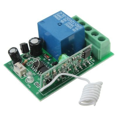 1 Channel 433 MHz Wireless RF Receiver Relay Board - Packaged
