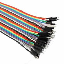 Robotistan - 10 cm 40 Pin M-M Jumper Cable