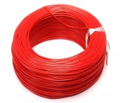 Robotistan - 100 Meter Single Core Mountage Cable - Red