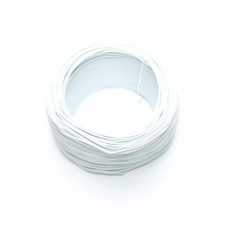 Robotistan - 100 Meter Single Core Mountage Cable - White
