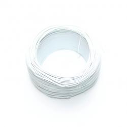 Robotistan - 100 Metre Tek Damarlı Montaj Kablosu 24 AWG - Beyaz