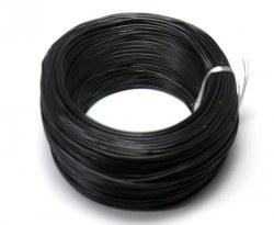 Robotistan - 100 Metre Tek Damarlı Montaj Kablosu 24 AWG - Siyah