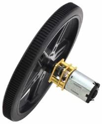 100:1 12 V 320 RPM Karbon Fırçalı Mikro Metal DC Motor - Thumbnail
