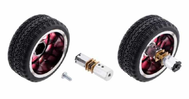 100:1 6 V 320 RPM Karbon Fırçalı Redüktörlü Mikro DC Motor
