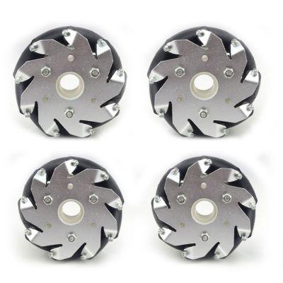 100mm Aluminum Mecanum Wheel Set (2 right and 2 left)
