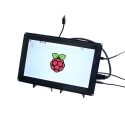WaveShare - WaveShare 10.1 Inch HDMI Kapasitif Dokunmatik LCD Ekran - 1024x600 (H)