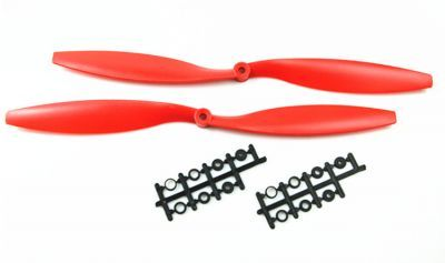 1045 Kırmızı Plastik CW/CCW Pervane Seti