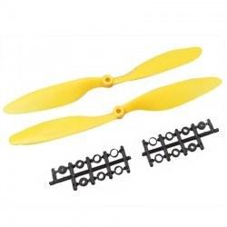 Robotistan - 1045 Sarı Plastik CW/CCW Pervane Seti