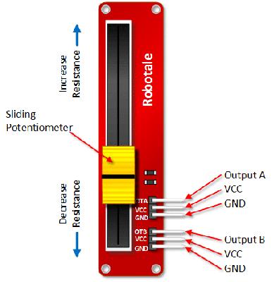 10kOhm Doğrusal/Lineer Potansiyometre