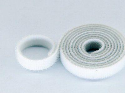 10mm Wide Velcro (loops & hooks integrated) 1 Meter White