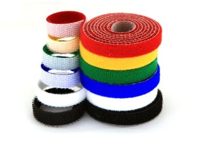 10mm Wide Velcro (loops & hooks integrated) 1 Meter - Yellow