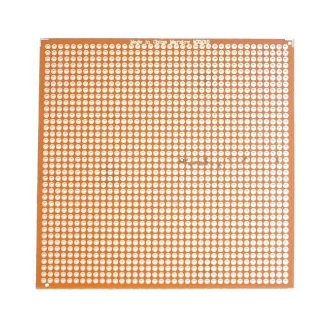 10x10 cm Delikli Pertinaks Tek Yüzlü