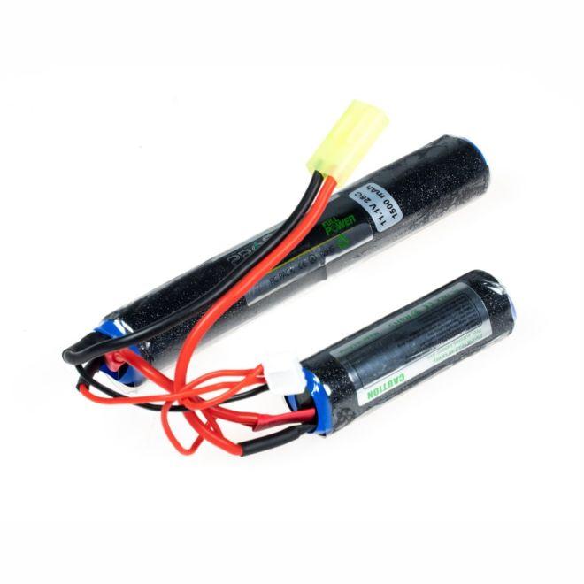 11,1V 3S Airsoft Lipo Batarya 1500mAh 25C - (18x65 + 18x130)