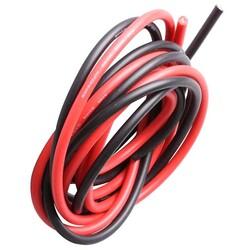 12 AWG 1 Metre Siyah ve Kırmızı Silikon Kablo - Thumbnail
