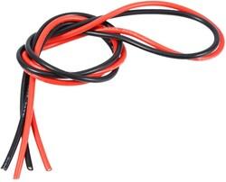 China - 12 AWG 1 Metre Siyah ve Kırmızı Silikon Kablo