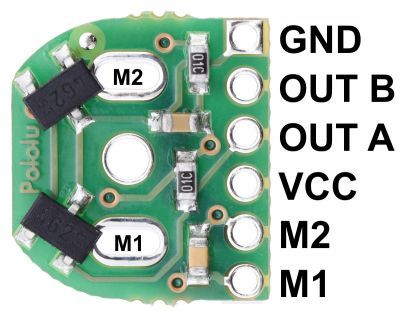 12 CPR Magnetic Encoder for Micro Metal Gearmotors