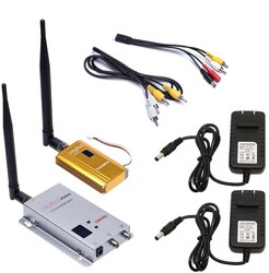 China - 1.2 Ghz 1500 mW 8 Kanal FPV Kablosuz Görüntü Aktarıcı Set