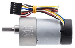 12 V 37 mm 530 RPM Enkoderli 19:1 Redüktörlü DC Motor - Thumbnail