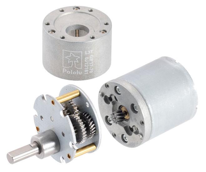 12 V 37 mm 530 RPM Enkoderli 19:1 Redüktörlü DC Motor
