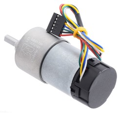 12 V 37 mm 76 RPM Enkoderli 131:1 Redüktörlü DC Motor - Thumbnail