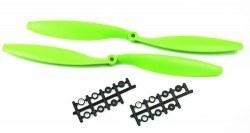 1245 Green Plastic CW/CCW Propeller Set - Thumbnail