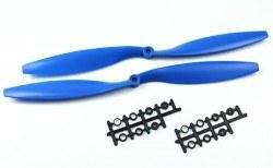 China - 1245 Mavi Plastik CW/CCW Pervane Seti