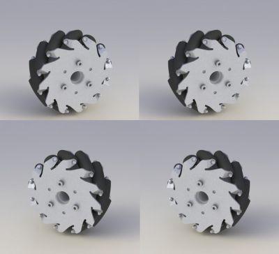 127mm Aluminum Mecanum Wheels Set Basic (2 Left, 2 Right) 14198