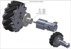 127mm Aluminum Mecanum Wheels Set Basic (2 Left, 2 Right) 14198 - Thumbnail
