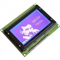 128x64 Graphic LCD, White Over Blue - TG12864B-02WA0 - Thumbnail