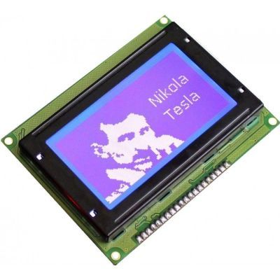 128x64 Graphic LCD, White Over Blue - TG12864B-02WA0