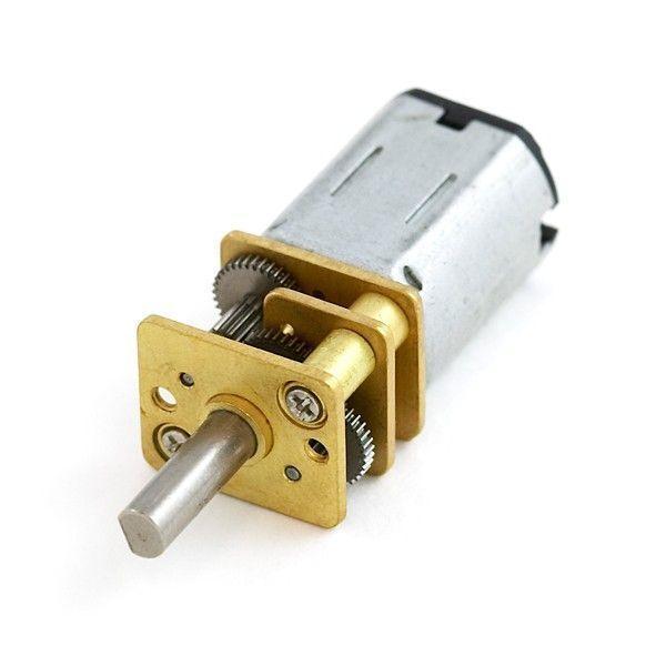 12V 12mm 200 RPM Redüktörlü Mikro DC Motor