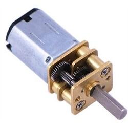 12V 12mm 200 RPM Redüktörlü Mikro DC Motor - Thumbnail