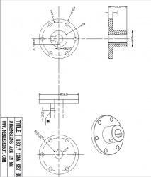 12 mm Kama Boşluklu Alüminyum Göbek - Universal, 18017 - Thumbnail