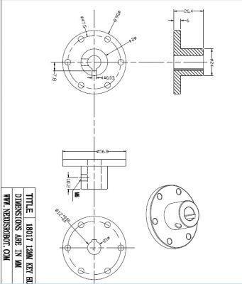 12 mm Kama Boşluklu Alüminyum Göbek - Universal, 18017