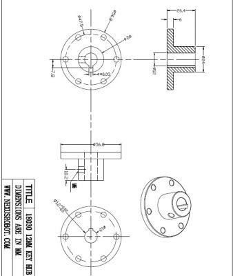 12 mm Kama Boşluklu Çelik Göbek - Universal, 18030
