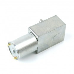 12V 10Rpm L-type DC Gearbox Motor - Thumbnail